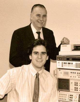 Washington Laboratories Founder Dr. J.L. Norman Violette with Michael Violette, P.E., co-founder and President of Washington Laboratories, Ltd.